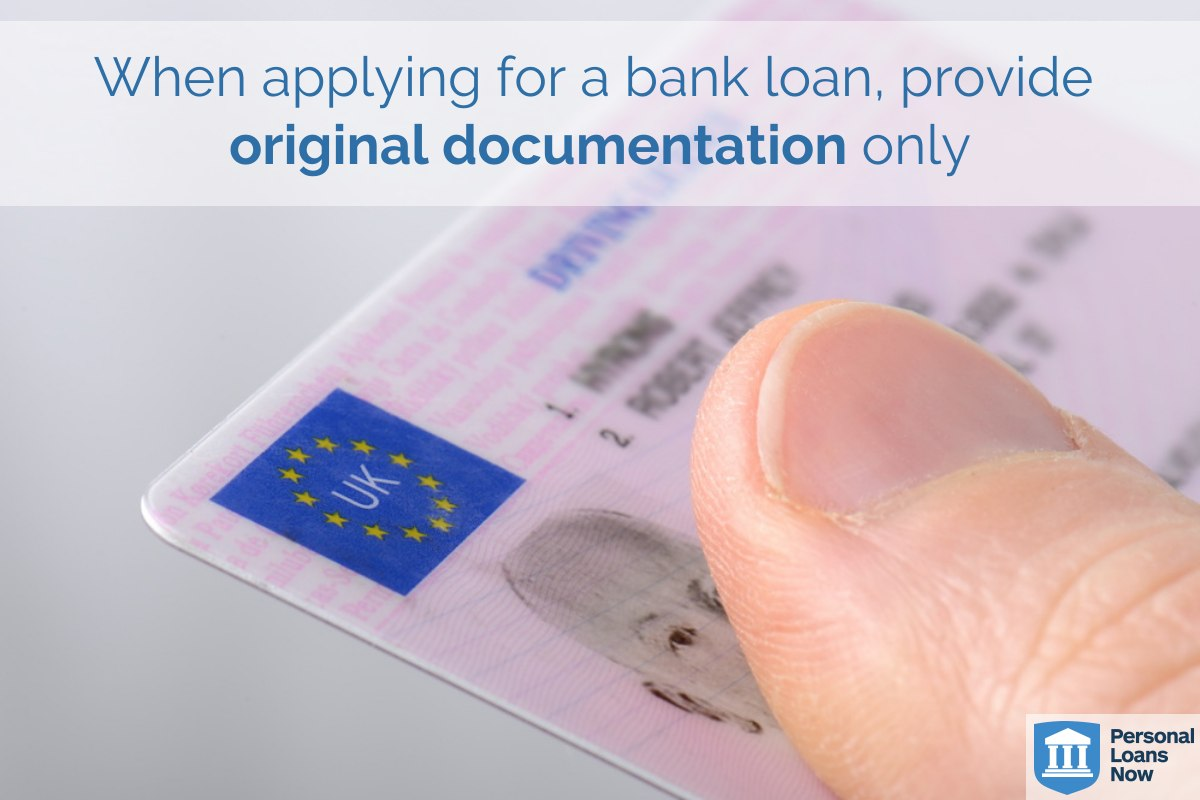 Provide original documentation only - Personal Loans Now