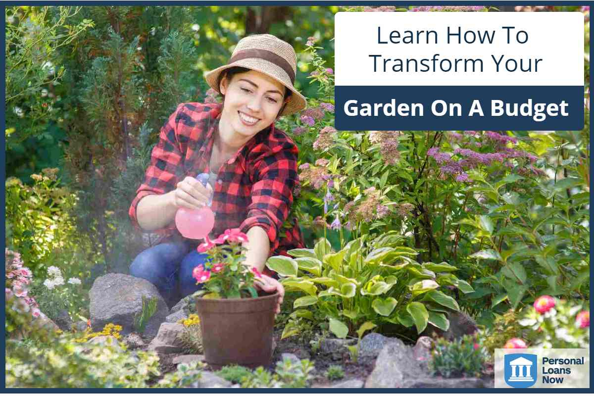 woman tending her garden - Personal Loans Now