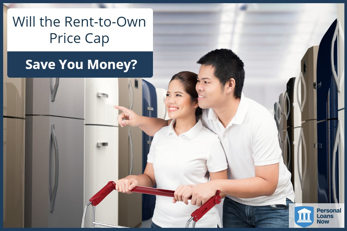 Couple choosing a freezer - will a rent-to-own price cap help them to save money? Personalloansnow