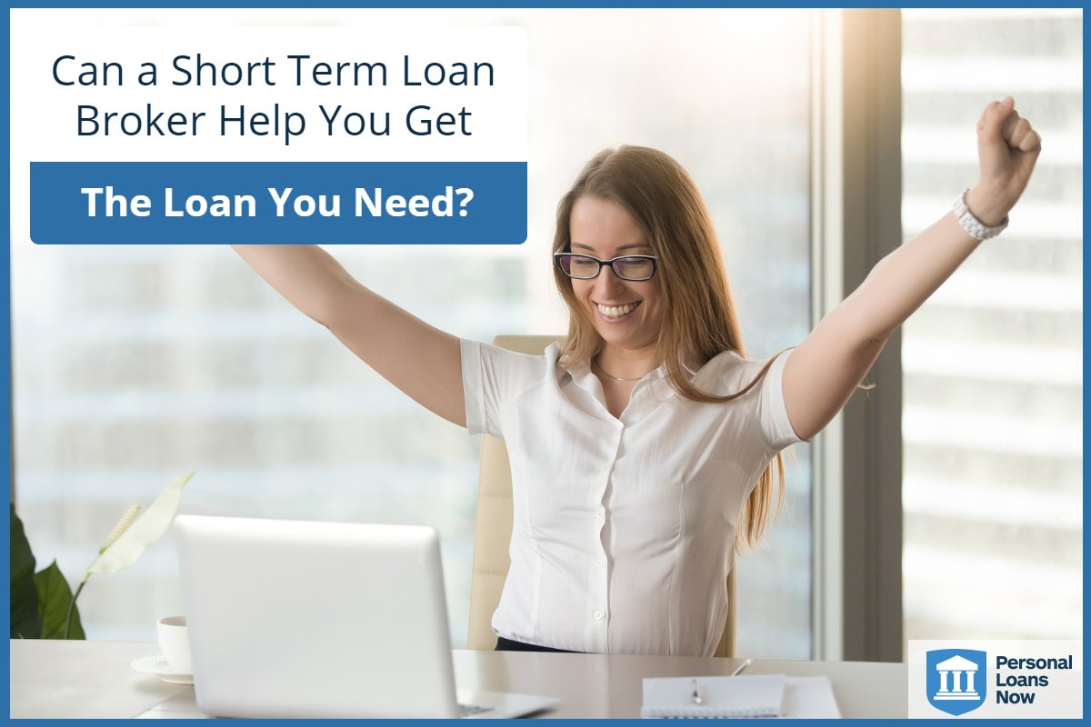Woman is excited that her loan was approved. Is a short term loans broker for you? Personalloansnow