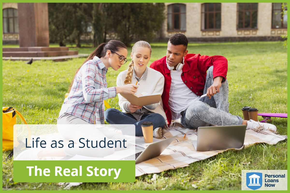 students studying together outside - Personal Loans Now