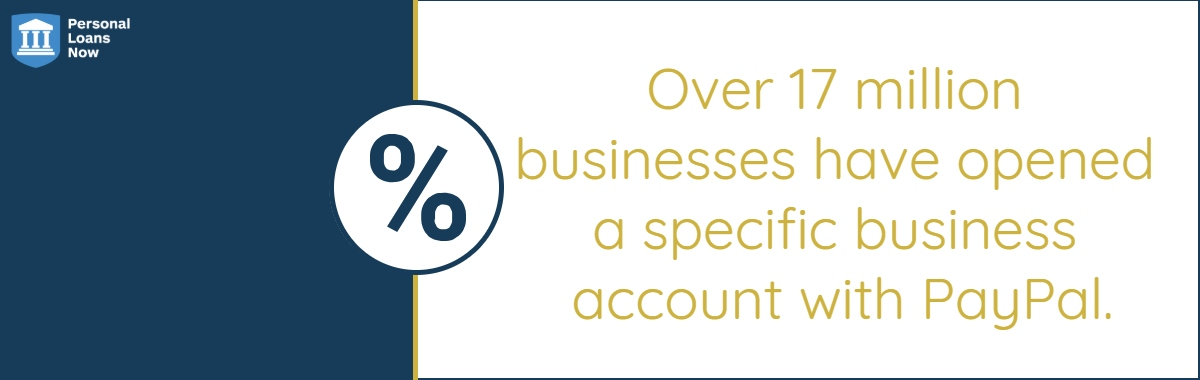 Over 17 million businesses have opened a specific business account with PayPal. - Personalloansnow